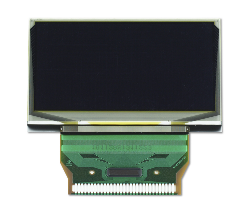 """2.4"""" Yellow OLED USMP-P19701 Front"""