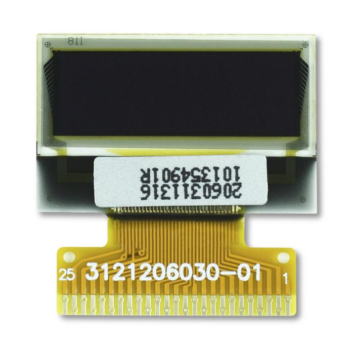"0.7"" White OLED USMP-P20603 Front"