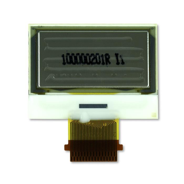 """1.0"""" White OLED USMP-P23201 Back"""