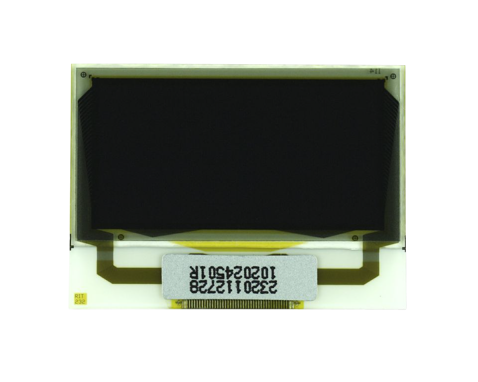 """1.0"""" White OLED USMP-P23201 Front No Tail"""