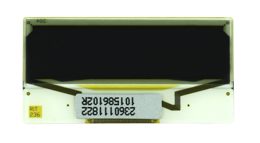 """1.0"""" White OLED USMP-P23601 Front No Tail"""