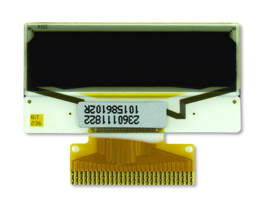 "1.0"" White OLED USMP-P23601 Front"